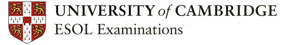 Centro examinador University of Cambridge